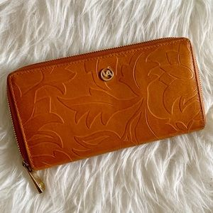 Valentina Tooled leather Wallet